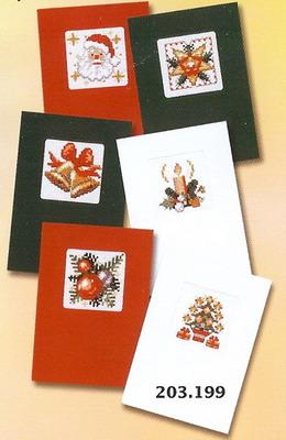 Kerstkaarten borduren