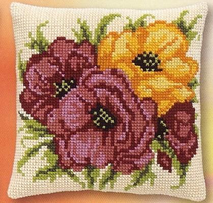 Bloemen lila en geel