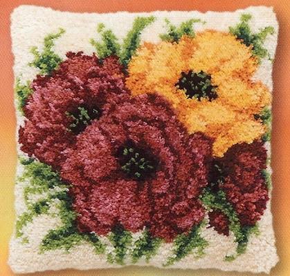Paars en gele bloemen