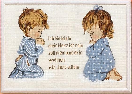 Biddende kinderen Duits