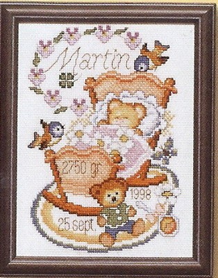 Geboortetegel met wieg