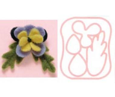 Viltprikmal viooltje