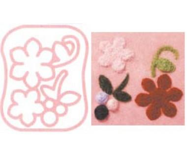 Viltprikmal Kleine bloem