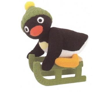 Pingu op slee