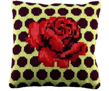 Kussen Rode roos