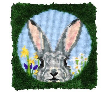 Kussen Vrolijk konijn