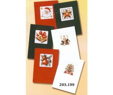 6 kerstkaarten pakket B