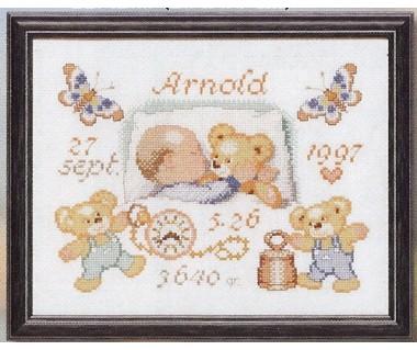 Baby en teddybeertjes
